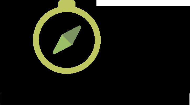 Logo for Nobel explorers - a green compass.