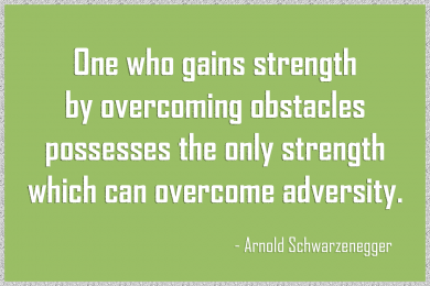 Quote about importance of resilience for child development by Arnold Schwarzenegger - Nobel Explorers